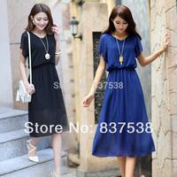 2014 New Women long Bohemia beach dress Casual Chiffon dress  High quality  Women Puls size dress Fashion Women Clothing