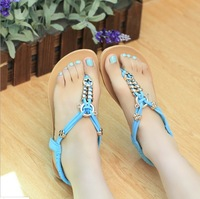 Summer New Women's Sandals Tendon Flat Sandals Roman Shoes Beaded Lace Casual Shoes