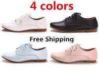 Summer Women's Flats Heels 4Colors White Leather Shoes Women Flats Shoes Women Casual Shoes sneakers HOT SALE