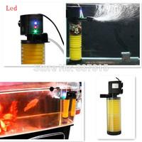 20W 1200L/H Aquarium Internal Filter 3LED RGB Light 2 Layers Sponge Media Submersible Filter Pump Quite