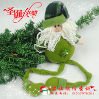 Free shipping Christmas tree decoration christmas tree supplies christmas doll green beam