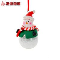 Free shipping Christmas tree decoration hangings 7x4cm quality polymer clay christmas ball glass christmas snowman 21g