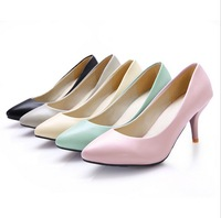 Summer Pointed Shoes Single Thin Candy-Colored women pumps Fashion Women High Heels sandals Free Shipping