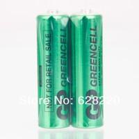 (10pcs/lot) GP GREENCELL AA Battery 1.5V 3500mAh 15G R6P Battery Pack, Carbon-zinc batteries+Free Shipping