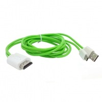 50pcs/lot 2m MHL Micro USB 5pin to HDMI CABLE FOR Galaxy S3 i9300 S4 i9500 Note2 N7100 N5100 S5 i9600 Green color,Free shipping