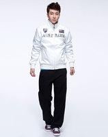 Brand NEW 100% Original KAP White collar long-sleeved jacket printing Austrila / Flag Zipper Men's Coat Jackets Free Shipping