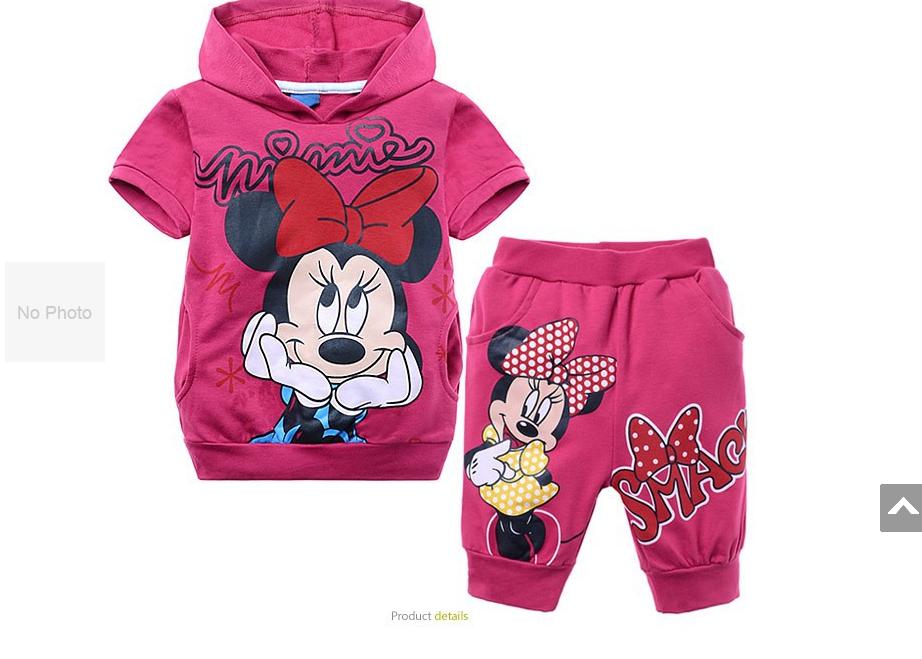 New Fashion 2014 Verão Crianças Esporte Suit Minnie Mouse Vestuário Crianças Hoodies + Meninas Shorts Casual Roupas Meninas Roupas Set(China (Mainland))
