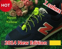 2014 New Edition Lock Laces~7 colors~2014 Summer Water Weave Pattern Lock Laces~No Tie Elastic Laces Locks~DHL FREE SHIPPING