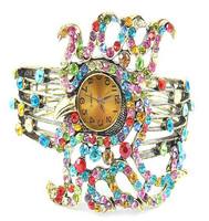 5pcs/lot  Charming Trendy Bohemian Women Watch Fashion Alloy Crystal octopus shape  Ladies Bracelet Watch