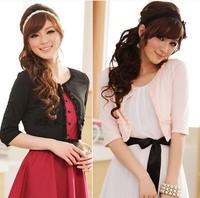 Half Sleeve thin Kaross plus size mm Cardigan Rose Design Short Spaghetti strap small collocation Formal dress cape