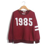2014 HARAJUKU 1985 personalized digital print loose long-sleeve o-neck sweatshirt t-shirt women's