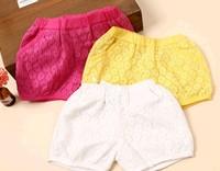 Free shipping 2014 new summer kids shorts girls Lace shorts wholesales