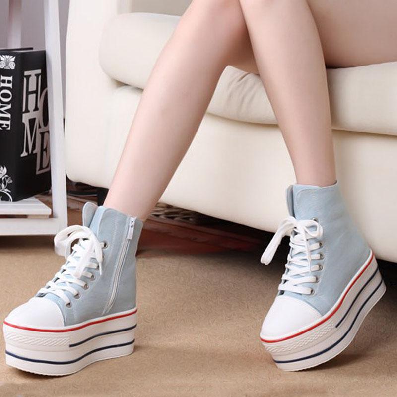 Sneakers Fasion Hot Sale Médio ( B, M ) Mulheres Sapatilhas Primavera Calçados Feminino Canvas Mens Casual com frete Grosso Soles Muffin grátis(China (Mainland))