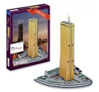 DIY Famous  Gold Tower Building 3D Puzzle Toys Colorful Print Seoul South Korea63 Building Jigsaw 71 Pc's Set