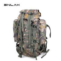 Snlak double-shoulder outdoor bag outdoor mountaineering backpack bag Camouflage 65l 10