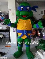 2014 NEW ARRIVE happy Teenage Ninja Turtles Fancy Dress Mascot Costume Adult Character Cosplay mascot costume free shipping