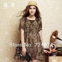 Freeshipping 2014 New Fashion silk  mulberry silk princess one-piece dress