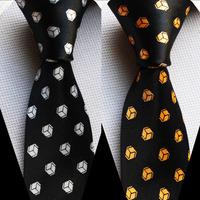 5cm width tie unique skinny necktie Geometric pattern printed ties