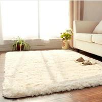 40*60cm--Fashion Living Dining Bedroom Car Flokati Shaggy Ivory Wool Rug Anti-skid Carpet Seatmat