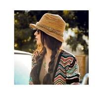 New 2014 Free Shipping Bohemian Wholesale Retail Fashion Women Beach a Sun hat Straw Cap summer hat For Women