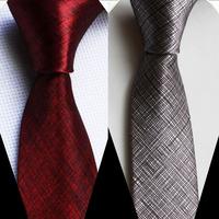 5cm width tie unique Slender necktie printed solid gravata red gray 2 color for choose