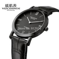 2014 Ultra-thin quartz strap vintage mens watch casual fashion genuine leather watches