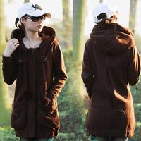 2014 Spring Autumn Women Outerwear coats Plus Size Velvet Thickening Hood Sweatshirt  Big Size Casual Hoodies 2XL 3XL 4XL 5XL