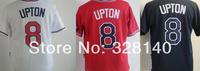 No.8 Justin Upton Red White Black Jersey Braves Outfielders#8 Justin Upton Red White Black Cool Base Baseball Jersey