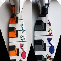 5 cm width tie unique Slender neck ties fashion musical gravata 2 color for choose