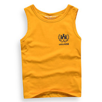 boys tank top t-shirt sleeveless t shirt size 5-16 years 2014 new free shipping