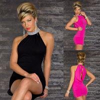 Inexpensive Night Club Dress Short Mini Color High Neck Column Sheath Sleeveless For Juniors Special