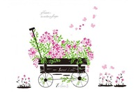 Lovely blooms zoo nursery children's room decorative wall stickers Kids Vinyl Sticker Home Decoration  Free Shipping