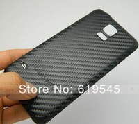Luxury Black Carbon Fiber Battery Door Case Cover For Samsung Galaxy SV S5 i9600 G900