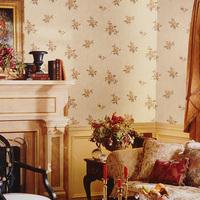 Non-woven wallpaper tv background wallpaper rustic flower