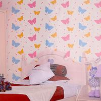 Non-woven wallpaper child eco-friendly wallpaper girls butterfly background wallpaper