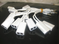 3.5mm Audio Splitter cable to line cables cabo kabel for iPhone 5 4s Mobile Phone headphone speaker