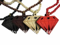 Good wood hiphop necklace fashion accessories ,10pcs mix order ,free shipping