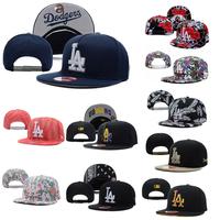 2014 New Free H.K. Shipping bboy Baseball  LA Los Angeles Dodgerss Adjustable Snapback Cap Chapeu Bone Hip Hop Hat for Men Women