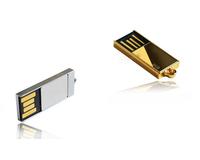 AU9 2014  Mini Waterproof Gold and Silver Rectangle Metal  model  USB Flash drive disk memory stick Enough 4GB 8GB 16GB 32GB