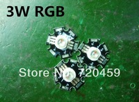 30pcs Led seven lights bead 3 w RG color changing light beads Redgreen and blue  DIY RGB LED Light with aluminum plate lamp bead