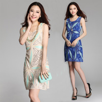 new 2014 fashion woman brand high quality embroidery casual dress,party dress, women clothing,dresses new fashion 2014