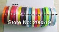 """RS005 10mm satin Ribbons 500yards mixed 20colors 3/8"""" Gift Ribbon DIY craft Bow Ribbon"""