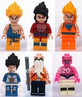 Wholesale 5831-5836 Dragon Ball Son Goku Vegeta Master Roshi Figures Toys Building Block Sets Model DIY Bricks Toys For Children