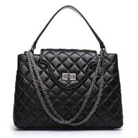 Hot Sale Black Classic Quilted Mini 2.55 Plaid Chain Genuine Lambskin Leather Flap Bag Women's Brands Designer Shoulder Bag