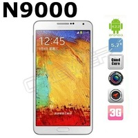 Star N9000 Note*3 MTK6582 Quad Core 1.3GHz Android 4.2.2 5.7 Inch IPS HD Capacitive Screen OTG 3G GPS Cell  Phone Two battery