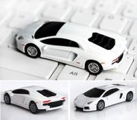 AU22  2014  Boy Toy Gift Mini Car Model 4GB 8GB 16GB 32GB Enough 2.0 USB disk Flash memory stick White New