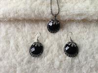 2014 Fashion necklace Earrings Set jewelry sets wholesale water drop flower earring necklace set