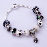 PA1086 -  / DIY Jewelry Fashion European 925 Silver Charm Snake Bracelets & Bangles for Women With Murano Glass Beads Jewelry