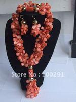 2015//G :New Design Coral jewelry set #004