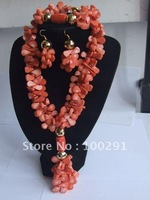 kw-325698774//G :New Design Coral jewelry set #004